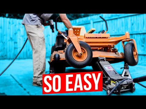 how to change the blades on a zero turn mower or riding mower