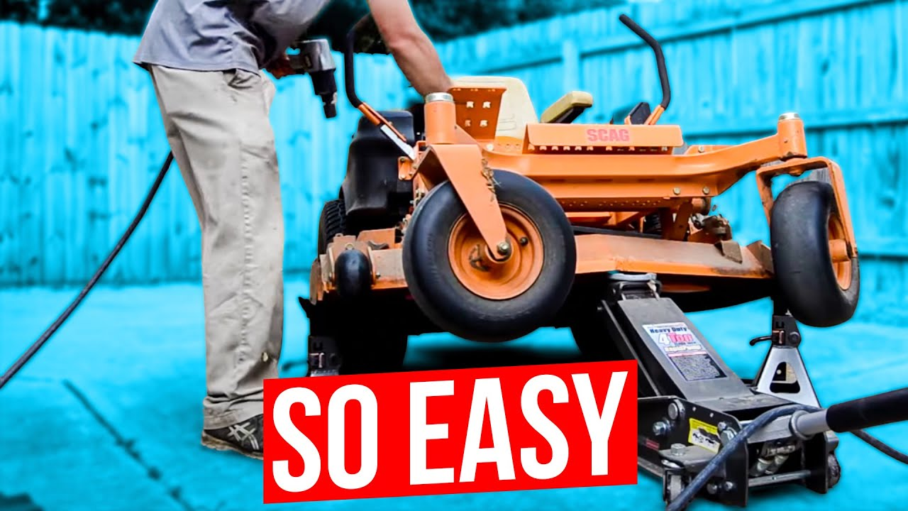 How To Change The Blades On A Zero Turn Mower Or Riding