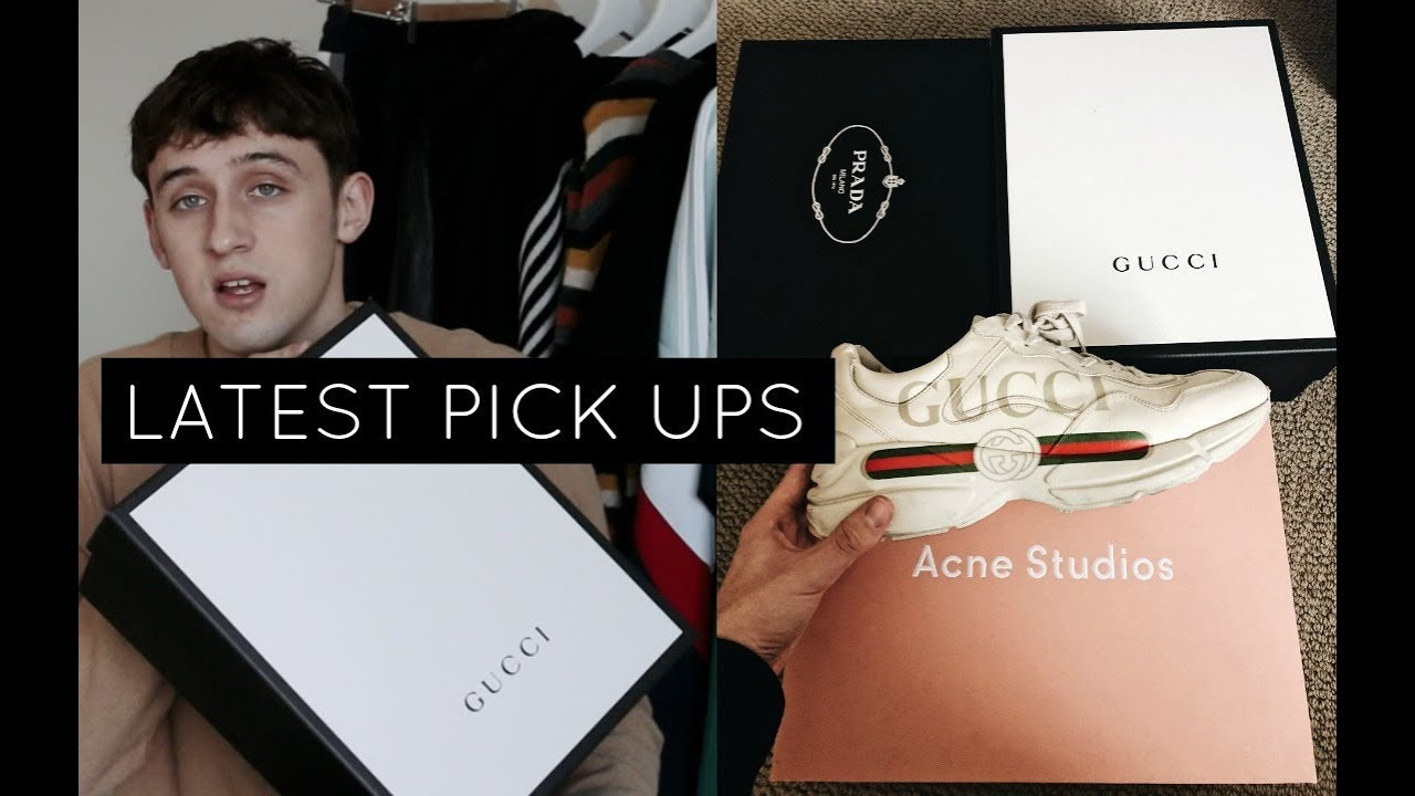 LATEST PICK UPS   Spring Outfits, High End Sneakers ft. Gucci, Prada, Acne Studios