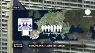 euronews questions for europe - Feu vert pour l'initiative citoyenne européenne