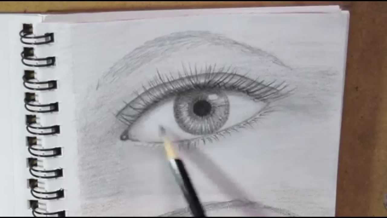 Como dibujar ojos a lapiz paso a paso para principiantes youtube - Ojos ahumados para principiantes ...