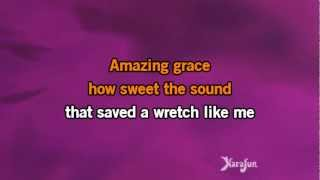 Repeat youtube video Karaoké Amazing Grace - Laurence Jalbert *