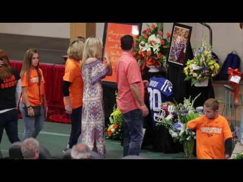 Hundreds remember Brody Stephens at New Palestine High School