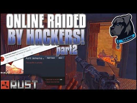 (part2)RACIST HACKING ZERG Online Raids US! - Can We Survive? - Rust Group Survival Episode 3 Part 2