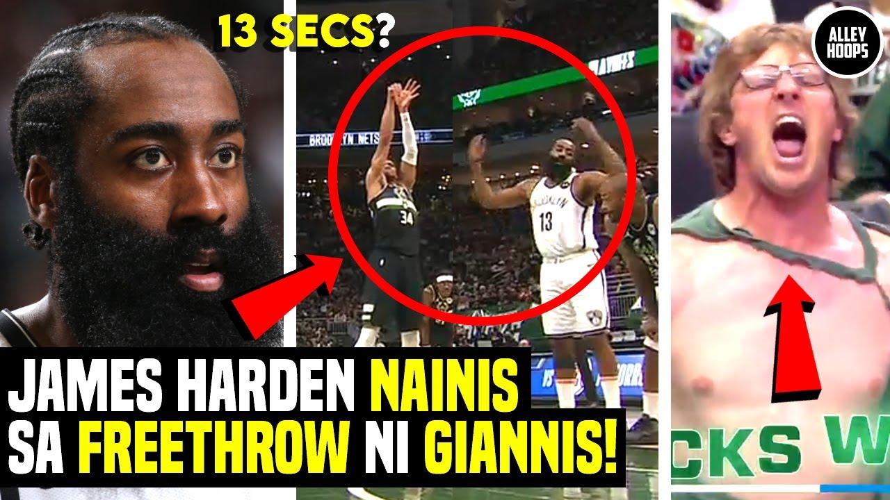 Harden UBOS na ang PASENSYA sa Freethrow ni Giannis! Fan Napahubad sa Saya! Nets vs Bucks Game 6