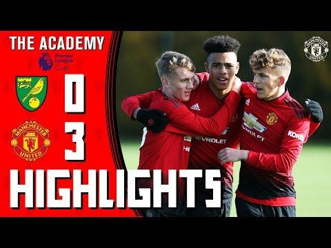 Highlights | Norwich U18 0-3 Manchester United U18 | The Academy