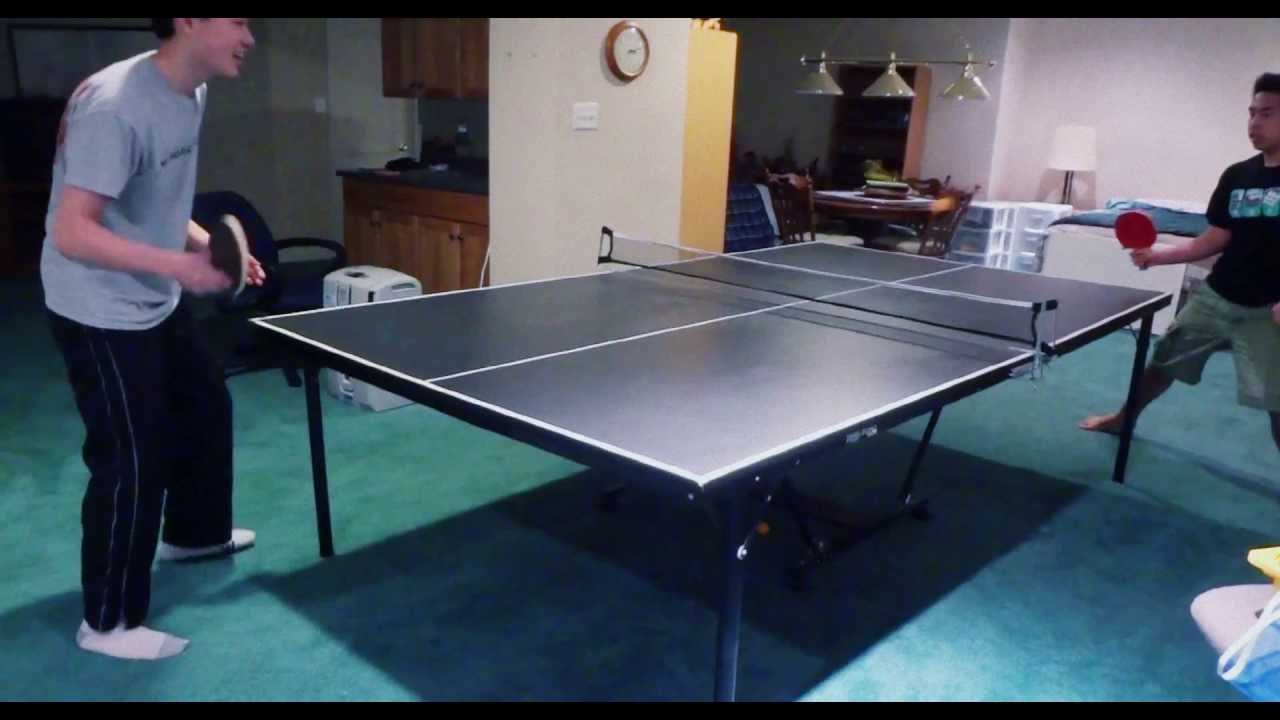 Extreme Ping Pong Extreme Basement Ping Pong Table Tennis Youtube