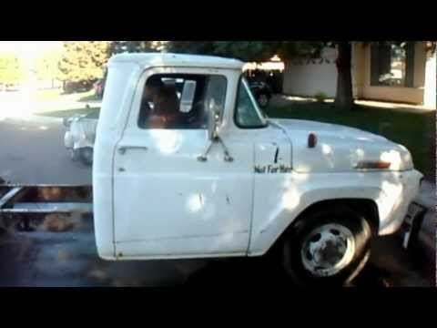 1957 Ford F 350 tow truck first start in 5! Y Block V8 ...