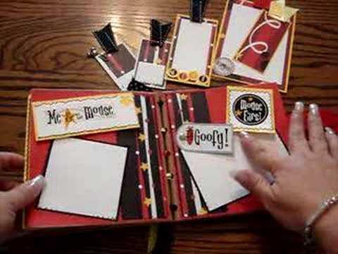 Mickey Mouse Scrapbook Album Scraponthis Youtube