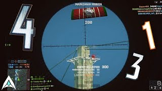 Insane Range Sniper Clips - Battlefield Top Plays