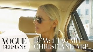 Berlin Fashion Week: Tag 1 mit Christiane Arp