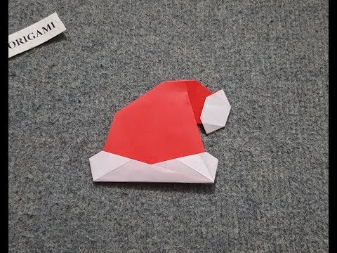 ORIGAMI - Hướng Dẫn Gấp Mũ Ông Già Noel || Merry Christmas
