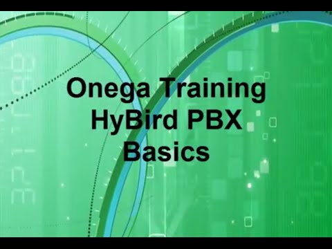 Onega Hybird PBX Basic Tutorial