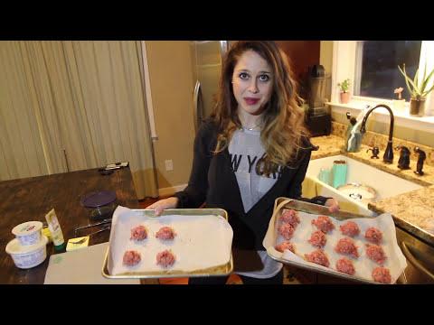 KETO GYRO LAMB MEATBALLS + Homemade Tzatziki in Air Fryer