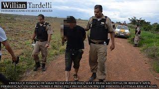 Comando 190 Araxá - Assalto a veiculo em Patrocínio, perseguição e prisão autor em Perdizes/MG.