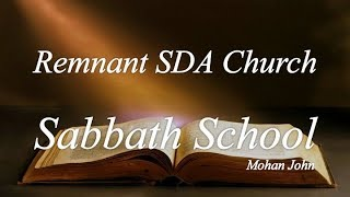 "Sabbath School Study: ""Confinement in Caesarea"""