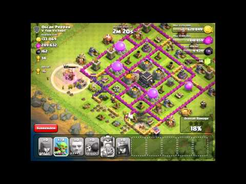 Clash Of Clans - Farming Strategy - th 9