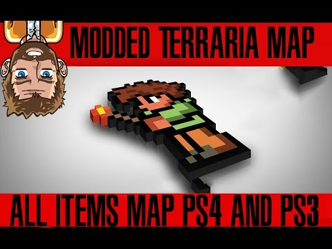 Terraria PS4 & PS3   All Items MAP!   New!   Download Now!