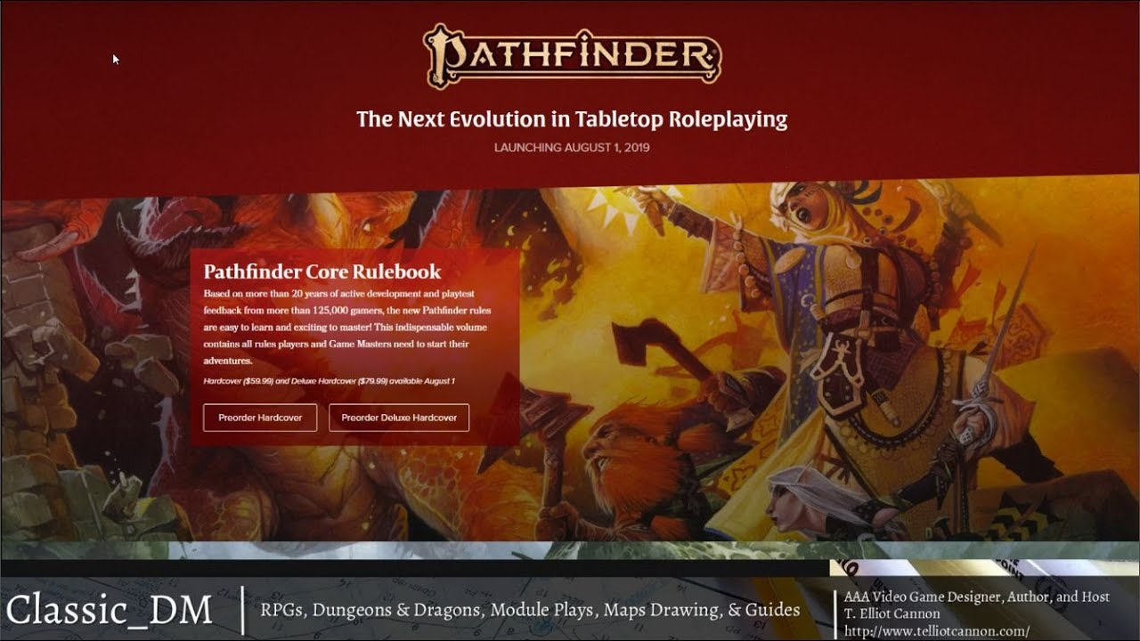 Pathfinder 2nd Edition — T  Elliot Cannon