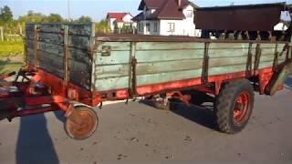 ROZRZUTNIK obornika UNSINN z napędem na koła poprzez wałek WOM przyczepa rolnicza