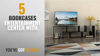 Top 10 Bookcases Entertainment Center With [2018]: DEVAISE TV Stand / 2 Pieces Bookcase / Bookshelf