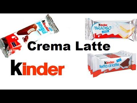 Crema al latte kinder per farcire Fetta a Latte , Pinguì , Torta Paradiso ecc . Facilissima