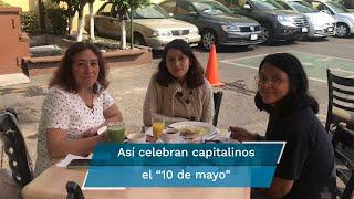 Desde muy temprano, los capitalinos acudieron a diferentes puntos de la Ciudad para festejar el celebrar el día de las madres