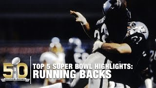 Top 5 Running Back Super Bowl Performances of All Time | NFL Now