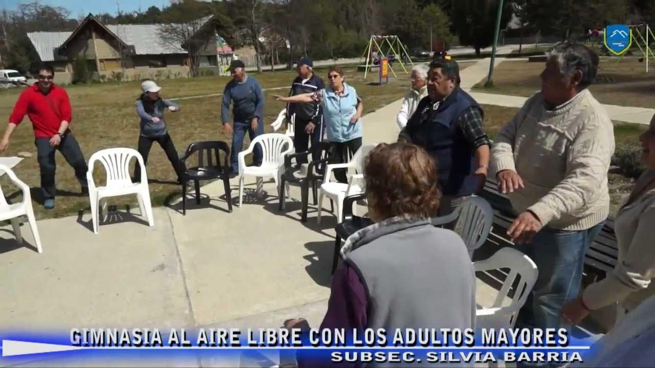 Gimnasia Al Aire Libre Con Los Adultos Mayores Youtube
