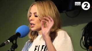 Kylie Performs Santa Baby  at The Chris Evans Breakfast Show 2015