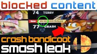 Crash Bandicoot LEAK On Smash WEBSITE?! We Break The IMAGE Down! - LEAK SPEAK!