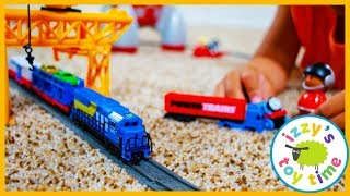 Toy Trains ! POWER TRAINS CRANE CITY SUPER SET