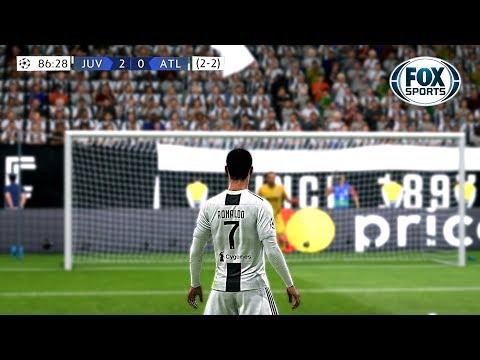 Recreación Juventus 3-0 Atlético de Madrid - UEFA Champions League 2019