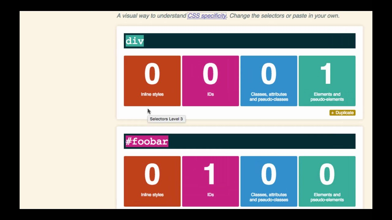 html flex box design patterns css specificity