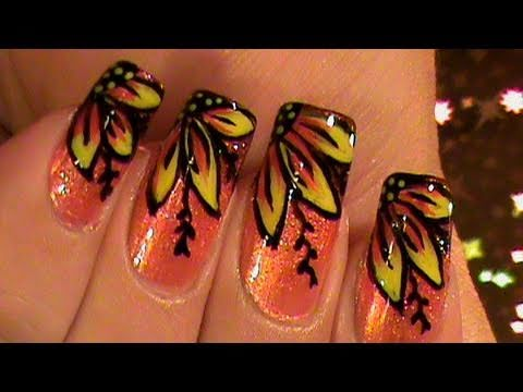 Peachie side flowers ombre gradient nail art design tutorial video peachie side flowers ombre gradient nail art design tutorial video youtube prinsesfo Images