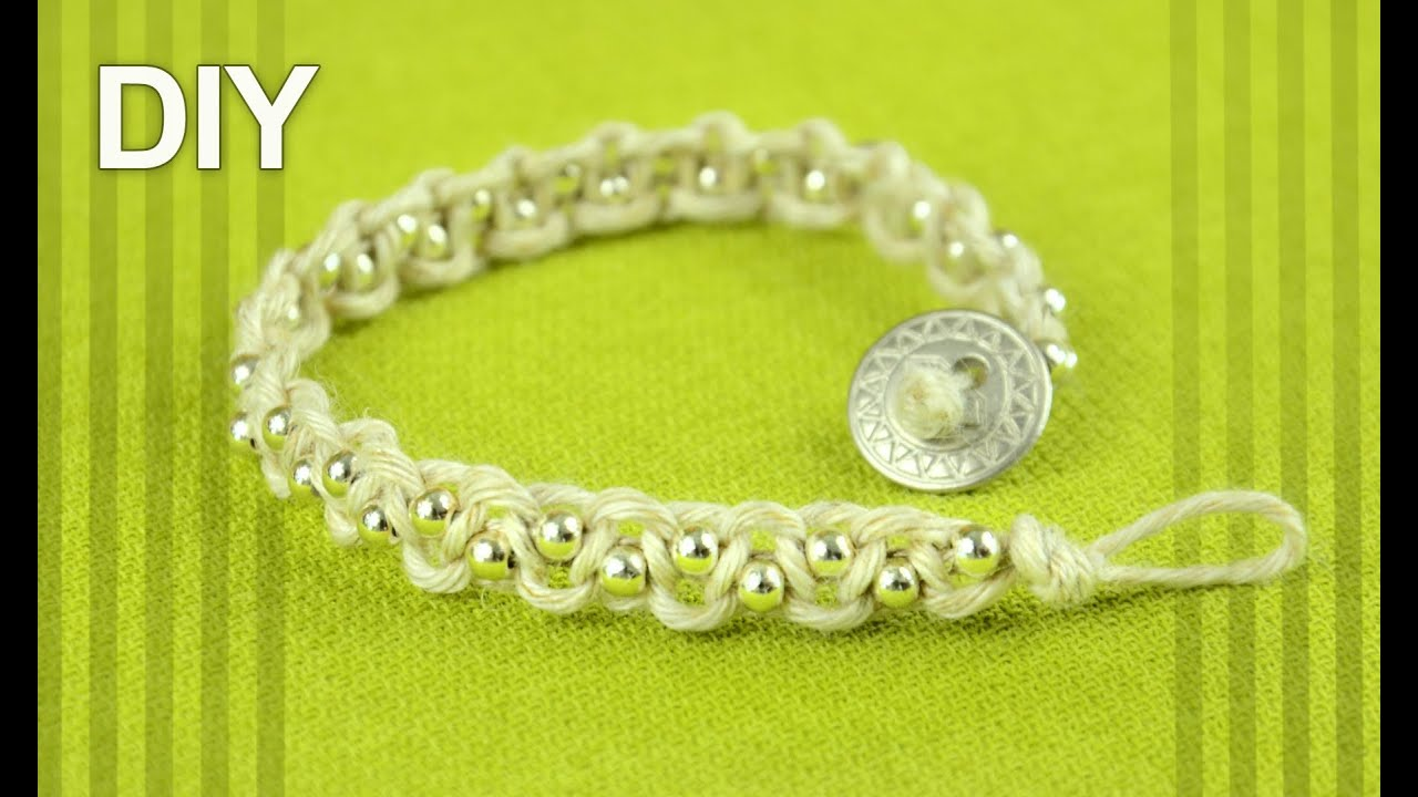 Macrame bracelet patterns for beginners