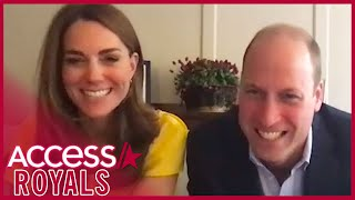 Prince william and kate middleton have a furry new friend! the couple came face-to-face with an adorable koala named grace via video chat as they spoke to lo...