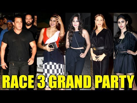 RACE 3 GRAND Party At Ramesh Taurani's House | Salman Khan, Jacqueline, Iluia, Sonakshi, Bobby,Daisy