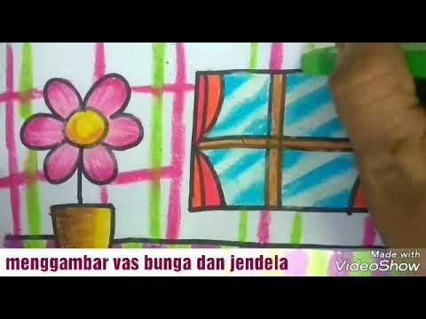 Cara Menggambar Dan Mewarnai Bunga Untuk Pr Anak Tk Dan Sd Youtube