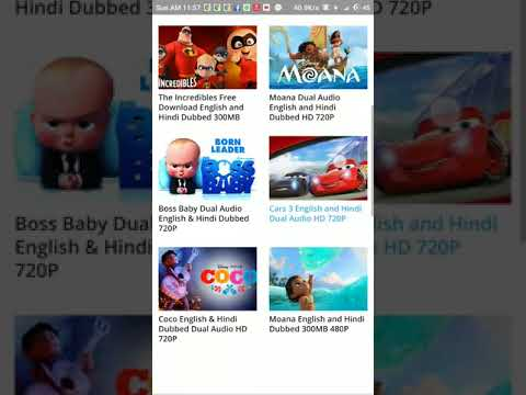 How to download movie moana and angry birds movie in hindi dual audio