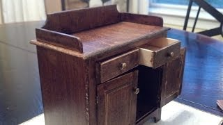 Playscale Model Furniture -- Miniature Dry Sink 1:6th Scale