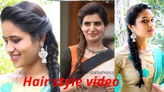 Actress #Samantha Inspired #HairStyle Tutorial// Beautiful Hair Style//Malayalam//Tips For The Day