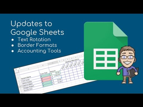 Google Sheets New Features - Text Rotation & Border Tools