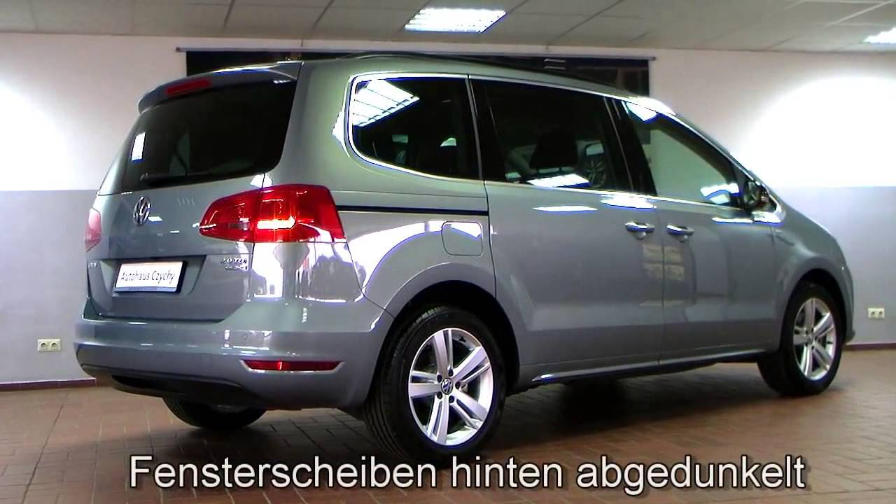 volkswagen sharan 2 0 tdi match ahk navi cv047616 sitz paket 7 sitzer video youtube. Black Bedroom Furniture Sets. Home Design Ideas