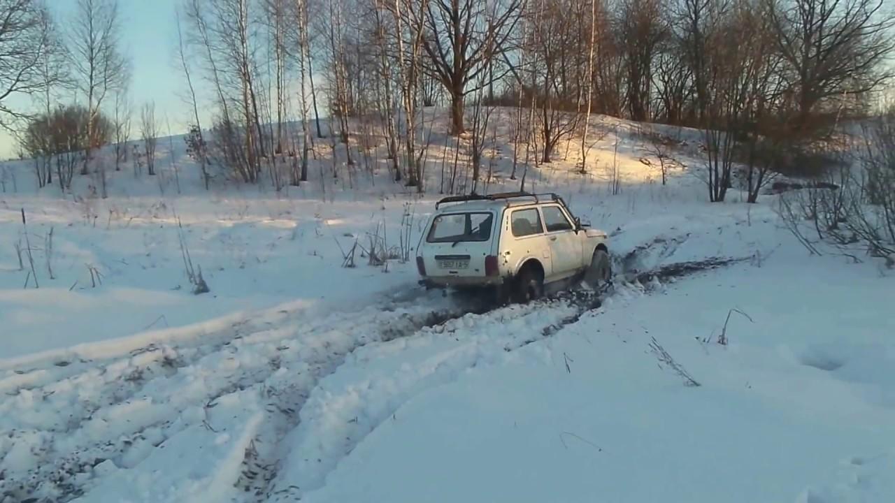 Белая Нива 21213 Зимнее дурачество / Lada Niva Winter