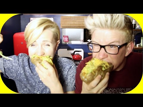 MY DRUNK KITCHEN: TACO POTATO (ft. Tyler Oakley!)