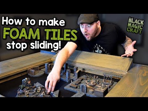 How to Make Foam Dungeon Tiles Stop Sliding and Moving Around (Black Magic Craft Episode 068)