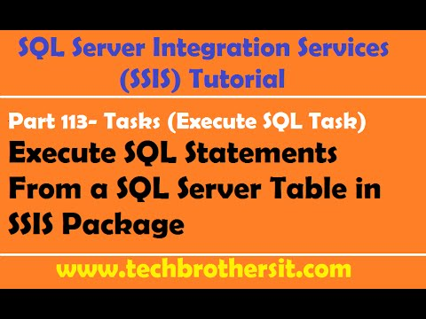 SSIS Tutorial Part 113-Execute SQL Queries From a SQL Server Table in SSIS Package