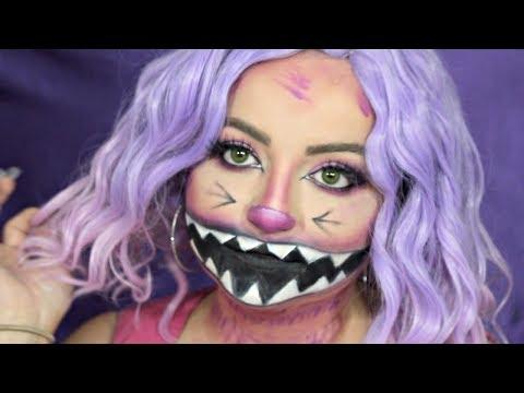 Cheshire Cat Halloween Makeup Tutorial   Amanda Ensing Inspired