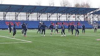 Футболисты БАТЭ провели тренировку в Минске перед игрой с Арсеналом